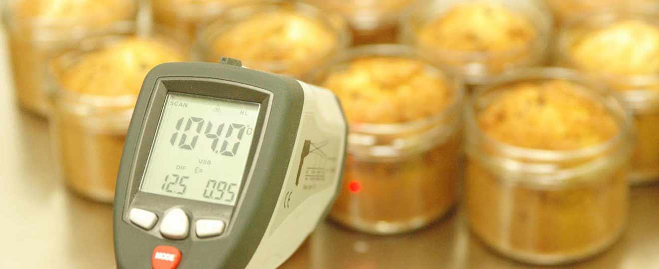 Termperaturüberwachung bei der muu Kuchen produktion