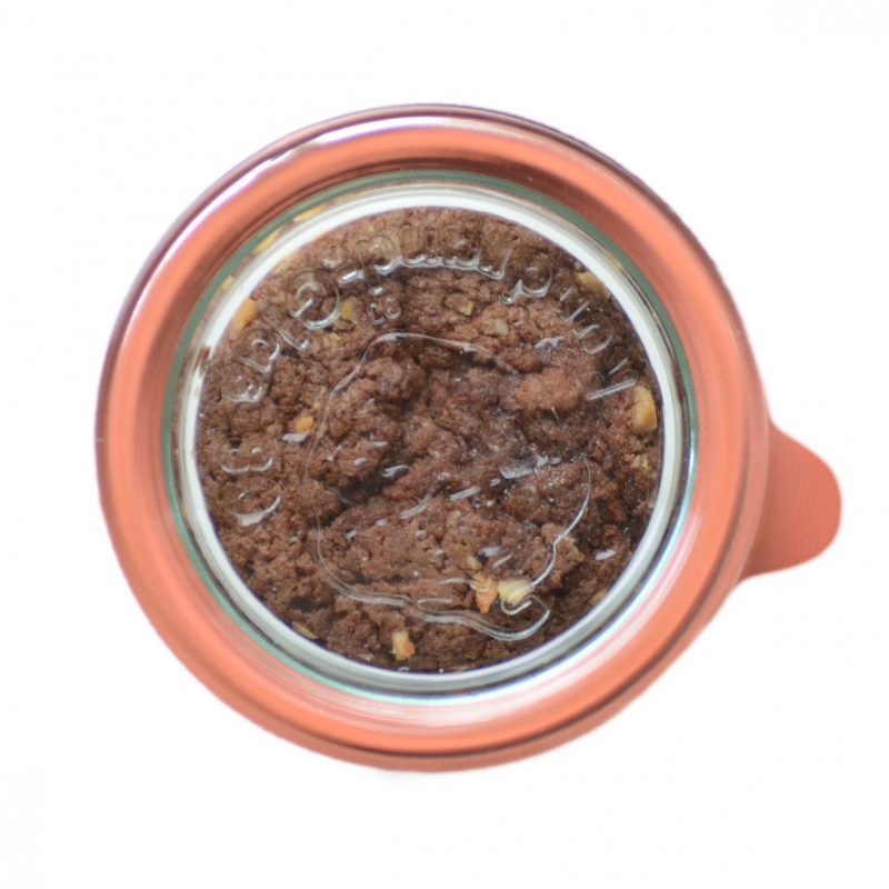 Schokoladenkuchen im Weckglas