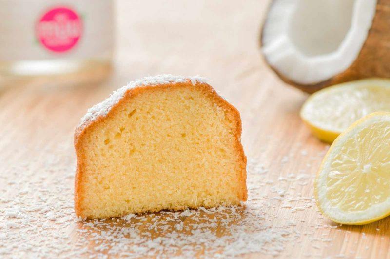 Zitronen-Kokos Kuchen im Glas: Detail