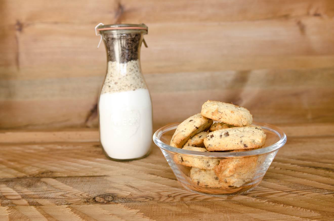 Süsse Backmischung im Glas für Cookies
