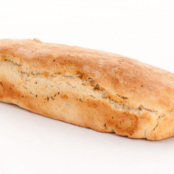 Backmischung im Glas: italienisches Weißbrot